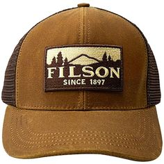 1cc56762540 Filson Logger Mesh Cap (2.285 RUB) ❤ liked on Polyvore featuring  accessories