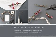 The Dark & Chic mock up BUNDLE by White Hart Design Co. on @creativemarket