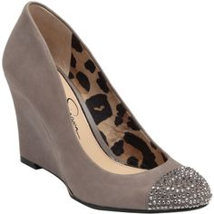 Jessica Simpson Cambria Suede Wedges with Rhinestones on shopstyle.com