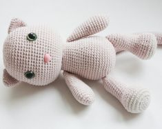 c6b1d6677a0 Amigurumi Crochet Cat Pattern - PDF Tutorial - Instant Download - Printable  - In English Crochet