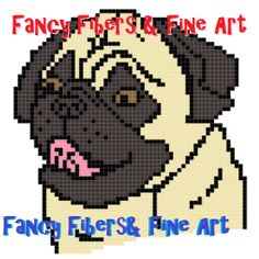Crochet Pattern Pug Dog Afghan Pillow Graphghan by FiberAndFineArt, $1.99