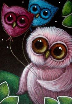 PINK OWL with OWL BALLOONS