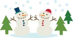 Snowmen Couple SVG cutting file snowman svg cut winter svg cut files for scrapbooking