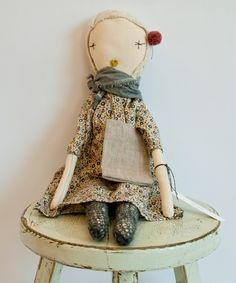 shopminikin - Jess Brown Rag Doll No.6 (http://www.shopminikin.com/jess-brown-rag-doll-no-6/)