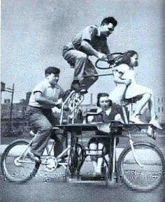 L'ingéniosité humaine ne connaît pas de limites: Vélo familial 1939