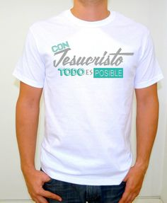 Con Jesucristo todo es posible!! $100 estampado verde!! Creative T Shirt Design, Best T Shirt Designs, Christian Clothing, Christian Shirts, Cool T Shirts, Tee Shirts, Jesus Culture, Sport Outfits, Mens Tops