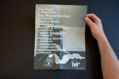 Theater Programm und Grafik für TaB* Theater am Bahnhof, Reinach Aargau. erstellen von Corporate Design, Logo