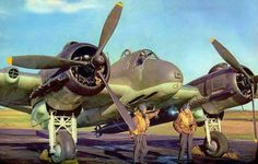 Bristol Beaufighter at rest at an airfield (Date and location unknown)
