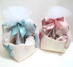 Luxury Baby Gift Baskets for twins by Bonjour Baby Baskets