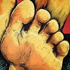 Detalle de la tapa del disco de No Pares.  #closeup #zoom #details #detalles #dedos #dedo #finger #foot #pie #pies #music #art #arte #cover #design #designs #diseño #disegno #ilustracion #illustration #dibujo #draw #drawing #gede #pic #picture #picoftheday #creative #album #reggae by cologede