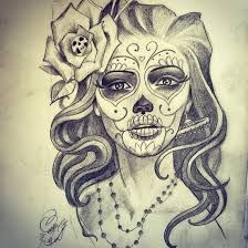 Image result for beautiful skull tattoos for women