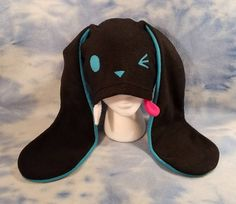 Your place to buy and sell all things handmade Edgy Outfits, Grunge Outfits, Cool Outfits, Fashion Outfits, Kawaii Fashion, Cute Fashion, Mode Lolita, Black Bunny, Bunny Hat