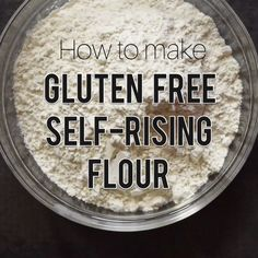This gluten free flour blend will make all of your gluten free baking so much easier! Have a big batch on hand ready to go when you need. A great everything self-rising gluten free flour blend! - How to Make Self-Rising Gluten Free Flour Cookies Gluten Free, Gluten Free Flour Mix, Gluten Free Desserts, Gluten Free Recipes, Gluten Free Bread Flour Recipe, Wheat Free Recipes, Gluten Free Dinner, Gluten Free Cooking, Vegan Gluten Free