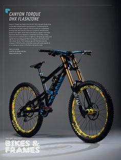 With Canyon& Torque DHX Flashzone you get a lot of bike for your money. Mt Bike, Mtb Bicycle, Cycling Bikes, Velo Dh, Mountain Bike Action, Mountain Biking Women, Downhill Bike, Trek Bikes, Bike Seat