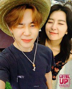 ☁Wink😉 repost with cr pls! Jimin Seulgi, Bts Twice, Korean Face, Kpop Couples, Blackpink And Bts, Kim Yerim, Red Velvet Seulgi, Korean Couple, Sweet Couple