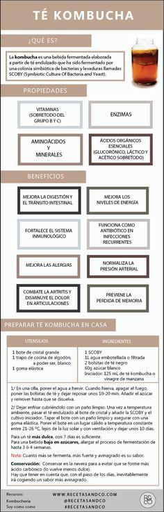 Recetas and Co. Kombucha, Vegetarian Recipes, Healthy Recipes, Falafels, Tea Mugs, Food Hacks, Wellness, Organic, Drinks