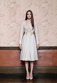 Taupe dress-coat - by Reem Juan