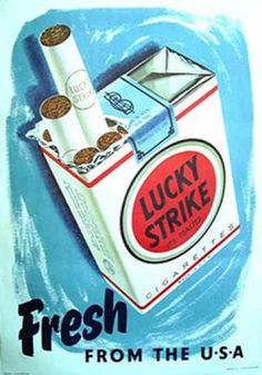 Lucky Strike - 1950s. Reminds me of Mad Men