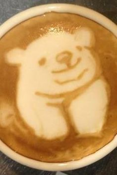 Polar Bear Latte Art