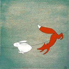 fox & hare by Kristiana Pärn