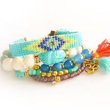 pattern india seed bead thread boho tribal tassel friendship bracelet - Buscar con Google