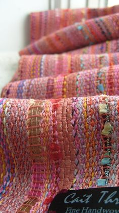 Handwoven Scarf, Morning Rose...Cait Throop Beautiful. I love the colors and texture