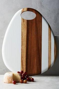 Anthropologie Whitestripe Cheese Board