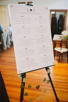 canvas & easel  107 Original Wedding Seating Chart Ideas | HappyWedd.com