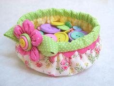 Button Basket...Too cute!!