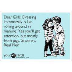 Modesty so true
