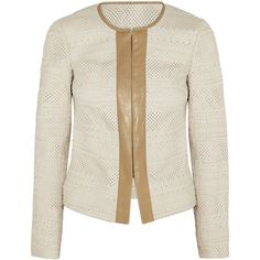 Tory Burch Autumn perforated leather jacket found on Polyvore | #SpringAutumn #WarmSpring #natural #romantic #style