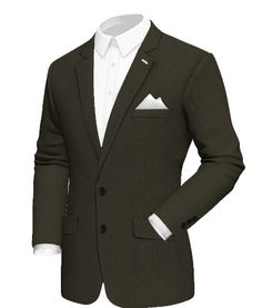Blazers for Men Cotton Blazer, Linen Blazer, Tweed Blazer, Tweed Jacket, White Pocket Square, Blazers For Men, Sport Coat, Black Fabric, Mens Suits