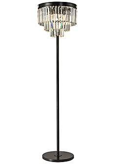 Soft silver 3 light crystal glass floor lamp den pinterest dimond palatial crystal chandelier floor lamp aloadofball Images