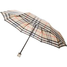 Burberry London Haymarket Check Umbrella ($146) ❤ liked on Polyvore featuring accessories, umbrellas, burberry and burberry umbrella