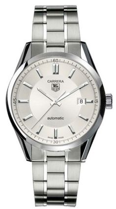 TAG Heuer Men's WV211A.BA0787 Carrera Automatic Stainless Steel Watch Sleek, professional, and luxurious, the TAG Heuer Men's Carrera Automatic Stainless Steel Watch is an exquisite timepiece for both business and pleasure. The stainless steel watch case measures 38.5-mm wide (1.52 inches). The silver dial face includes luminous baton hands (with seconds hand), luminous stick hour markers, small minute indexes placed on the interior of the bezel,...