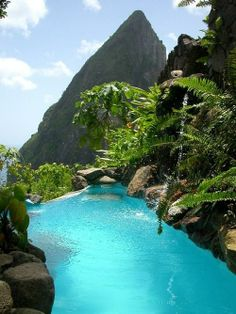 I want to swim here - St. Lucia.