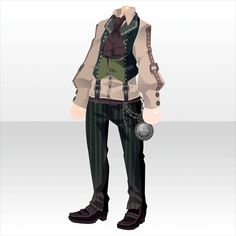 Rasoir Suspicious|@games -アットゲームズ- Manga Clothes, Drawing Clothes, Anime Outfits, Cool Outfits, Fashion Outfits, Dibujos Cute, Cocoppa Play, Dress Drawing, Anime Costumes