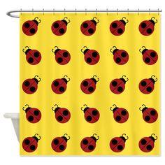 Yellow Brick Road Shower Curtain Lady Bugbathroom Accessoriesshower Curtains