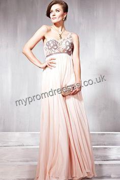 Floor Length One-shoulder Pink Tulle A-line Evening Dress fes-00046