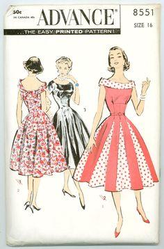 Advance 8551 - Pretty-as-a-Princess Misses' Evening Dress - Click Image to Close