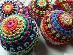 Crocheted balls, I have no idea what or why I would need them... but they are cool.
