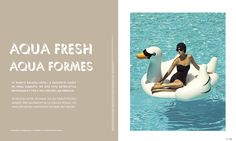 """Honourable mention in Fashion & Beauty. """"Aqua Fresh"""" by Nathalie Cusson published in #Enroute, 2010."""