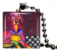 Azawakh Pendant Necklace Charm Jewelry Dog Folk Pop Art Christmas Gift