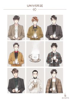Cre: the owner/as logo Park Chanyeol Exo, Kpop Exo, Sehun, Exo Cartoon, Exo Anime, Anime Art, Exo Stickers, Exo Korea, Exo Lockscreen