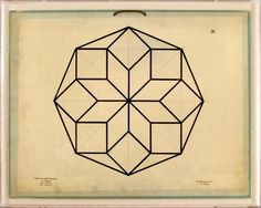 Jean Baptiste Geometrics 5 | Natural Curiosities Conference Room Art - Above Bookshelf