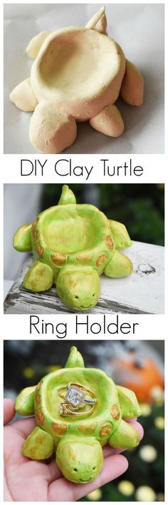 Check out this DIY Clay Turtle Ring Holder. It is made with the Pottery Cool machine by /spin_master/ #ad #PotteryCool