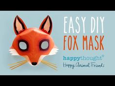 ▶ Free DIY Fox Mask template and tutorial: Make your own 3D red fox paper mask in no time! - YouTube