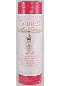 Love Pillar Candle With Goddess