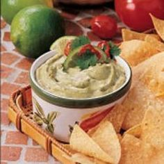 Creamy Guacamole Recipe Appetizers with avocado, lime juice, cream cheese, worcestershire sauce, salt, hot pepper sauce, tortilla chips