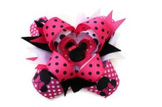 Minnie Mouse Inspired Bow by the Sweet B Collection on Etsy